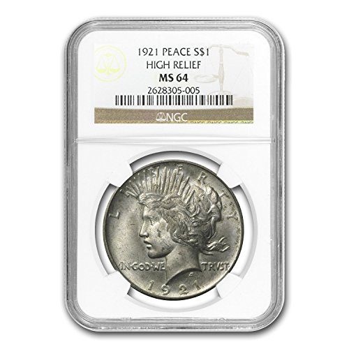 1921 Peace Dollar MS-64 NGC (Toned) $1 MS-64 NGC