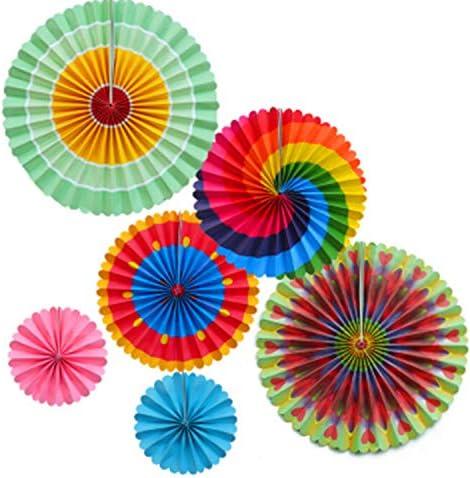 18 piezas Diy Ventilador de flores de papel Conjunto decorativo ...