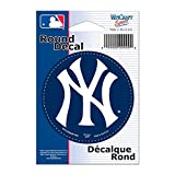 """MLB New York Yankees WCR68054091 Round Vinyl Decal, 3"""" x 3"""""""