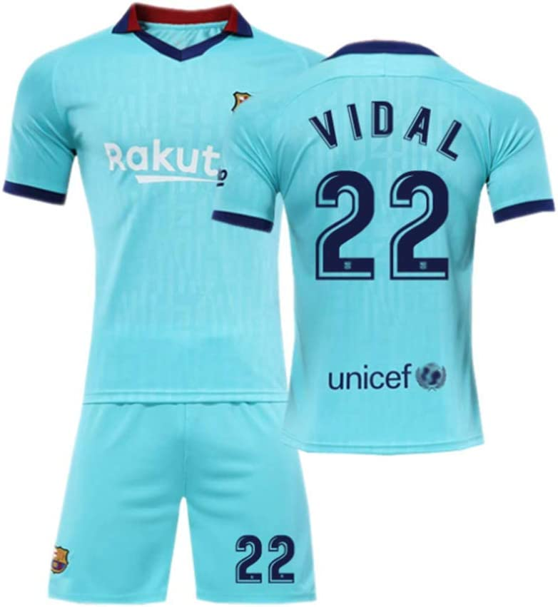 T-Shirt De Football Gar/çon Messi 10 T-Shirt De Football Messi Maillot,Maillot De Football Adulte Et Enfant Maillot De Barcelone