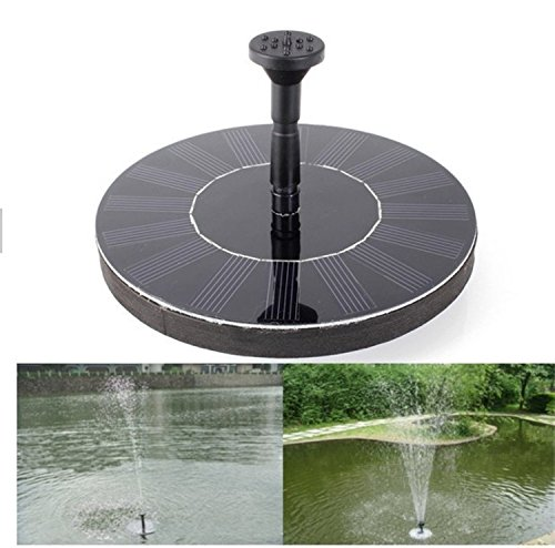O-Best Solar Powered Water Pump Garden Fountain Pond Feature / Solar Powered Fountain Pump Kit for Fountains Floating Solar Fountain for Bird Bath