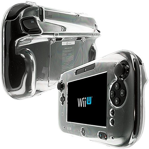 Nintendo Wii U Gamepad Controller Case, TechSpec(TM) Clear Crystal Transparent Hard Case Cover for Nintendo Wii U Gamepad Controller