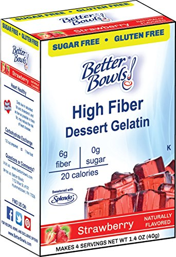 Better Bowls Sugar Free, Strawberry Gelatin, 1.4 Ounce (Pack of 6) (Diet Protein Gelatins)