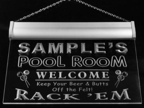 py1078-b Wood's Pool Room Rack 'em Welcome Bar Beer Neon Light Sign by AdvPro Name (Image #2)