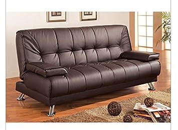 Amazon.com: Fast Furnishings Modern Futon Style Sleeper Sofa ...
