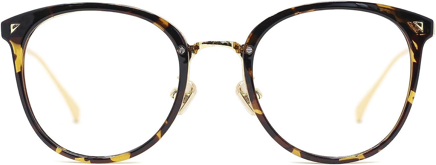 2ab7a29f31b3 TIJN Women Retro TR90 Metal Round Glasses Frame Optical Rx-able Eyeglasses -Maaike