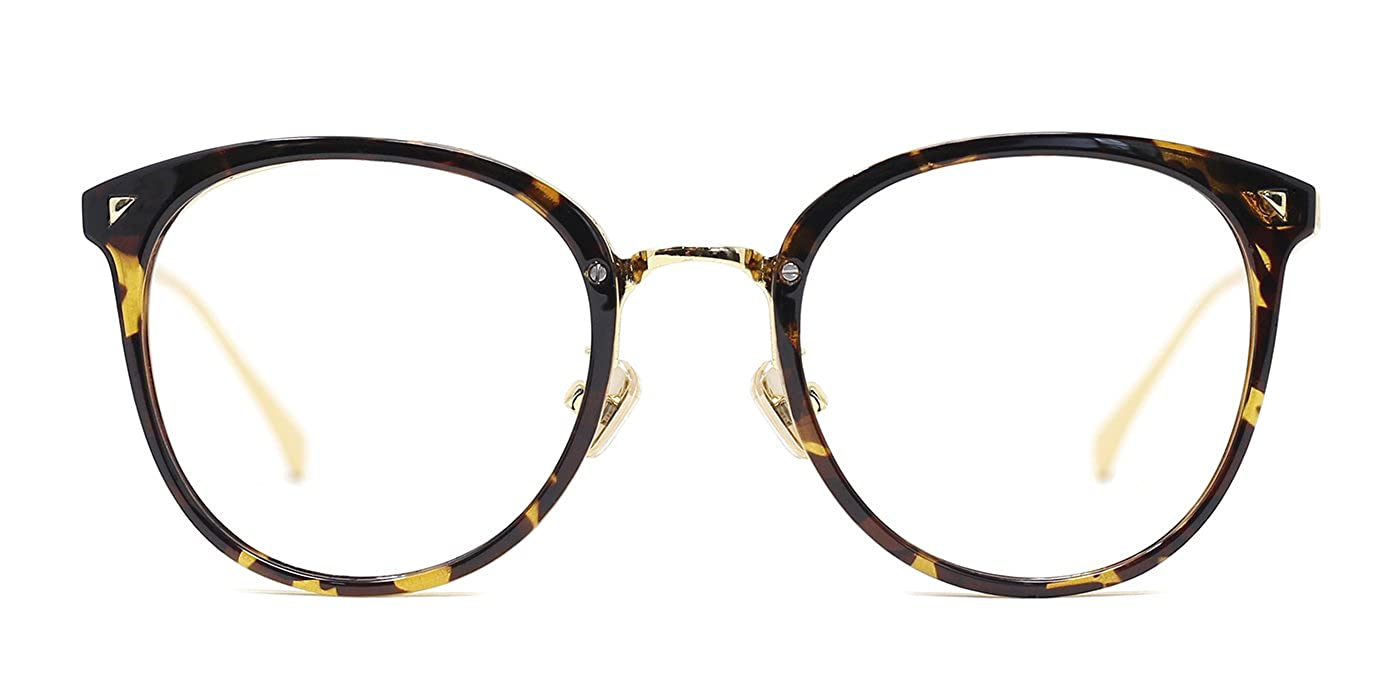 3f36de5459ce TIJN Women Retro Metal Round Glasses Frame Optical Rx-able Eyeglasses Frame   Amazon.ca  Clothing   Accessories