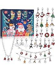 VTYEPOU Christmas Advent Calendar 2021 Christmas Jewelry Calendar Countdown Calendars Advent Calendars for Girls Children