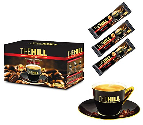 The Hill Strong 3-in-1 Instant Premium Vietnamese Coffee. Fine Instant Coffee Packets. Perfected 3-in-1 Coffee Mix with Non Dairy Creamer. Indulge in Rich Aroma of Best Asian Coffee. Box of 16 Sachets