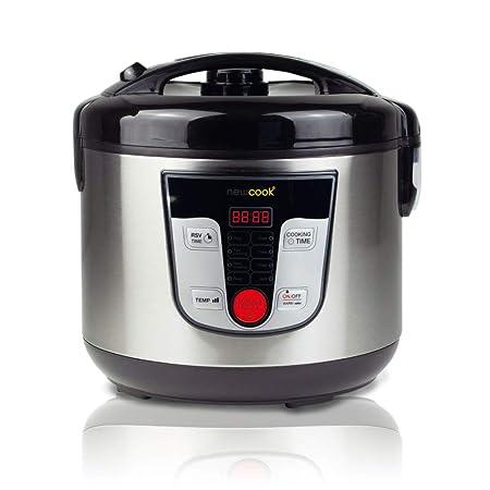 NEWCOOK Robot de Cocina Multifunción, Capacidad 5 Litros, Programable Hasta 24H, Cocina Automáticamente, 8 Menús Preconfigurados y Función Mantener ...