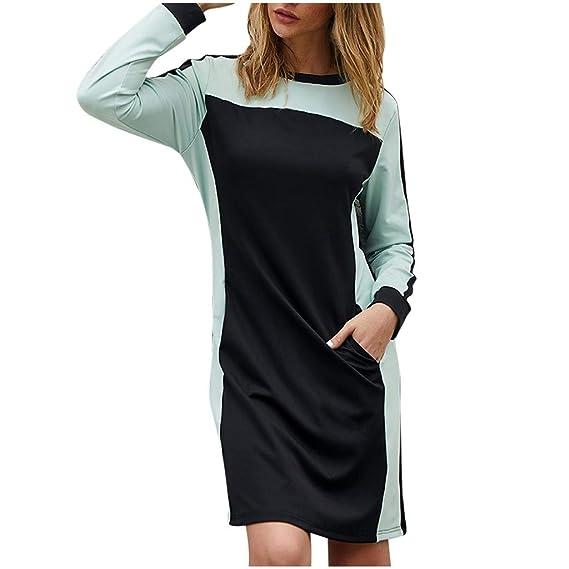 le moins cher acheter populaire sélection mondiale de KiyomiQaQ Robe Femme Manche Longue Tunique Court Robes ...
