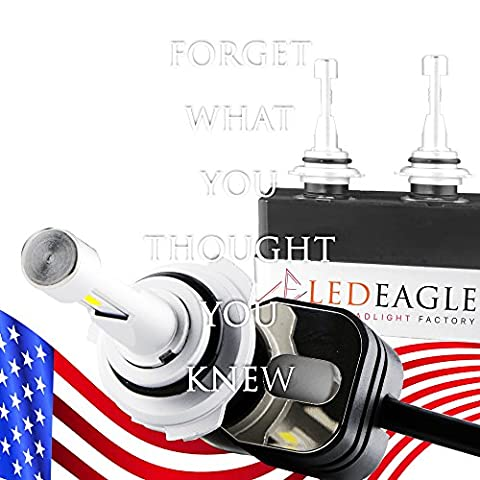LED EAGLE – 2017 Most Innovated Super Bright WideView SZ LED Headlight 9,900LM 360° Adjustable Sockets 3.5x Brighter than Halogen Outperforms HIDs 2 Yr Warranty (D4C / D1S / D2S / D3S / D4S, (D2s Corolla)