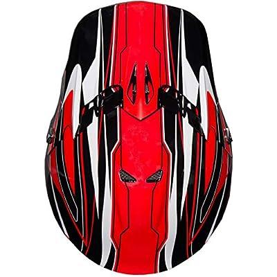 Raider GX3 Unisex-Child MX Off-Road Helmet (Red, Youth Large): Automotive