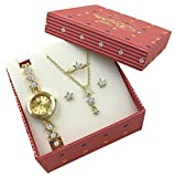 Golden Stars Watch Jewelry Gift Set for Women Wife Girlfriend Sister