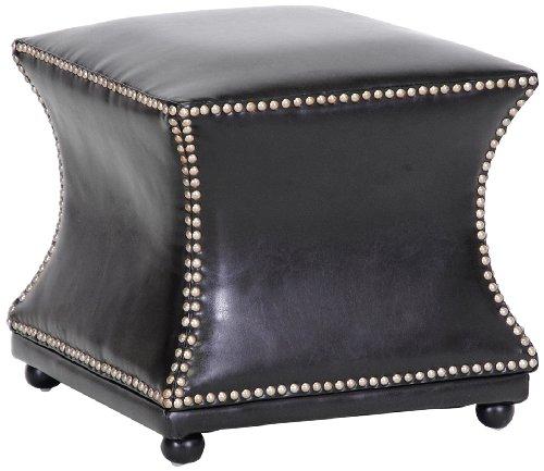 Ottoman Wholesale Interiors Leather (Baxton Studio Ellastone Modern Leather Ottoman, Dark Brown)