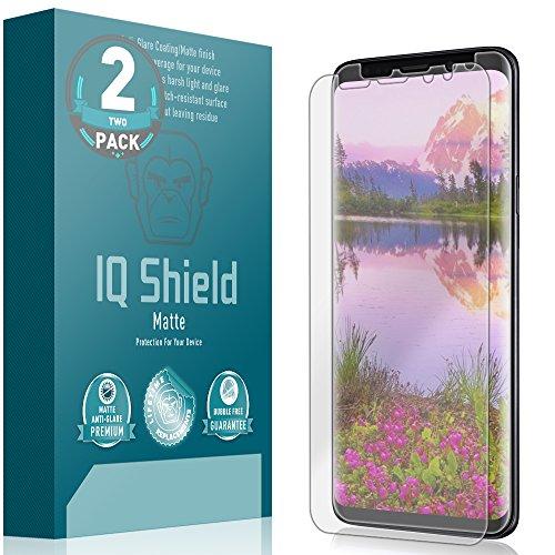 Galaxy S9 Plus Screen Protector (2-Pack), IQ Shield Matte Full Coverage Anti-Glare [EDGE to EDGE] Screen Protector for Galaxy S9 Plus (Max Coverage) Bubble-Free Film