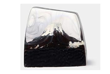 Amazon.com: AEmber BK – Llavero de resina hecho a mano Fuji ...