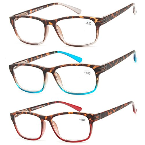 Reading Glasses 3 Pair Great Value Stylish Readers Fashion Men and Women Glasses for Reading +3.25
