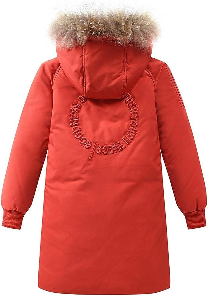 LISUEYNE Big Boys Winter Hooded Down Coat Kids Puffer Parka Jacket