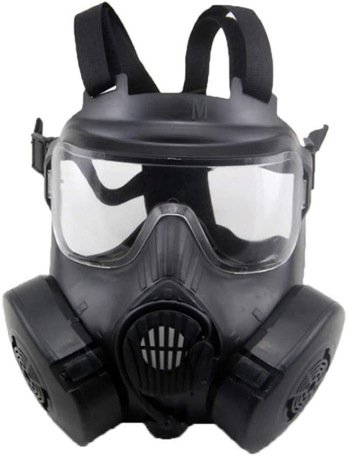 KEKE CS Games Mask con Doble Turboventilador Airsoft Paintball Equipo De Protección Máscara De Gas para Disfraces, Unisex-Adulto, Talla Única