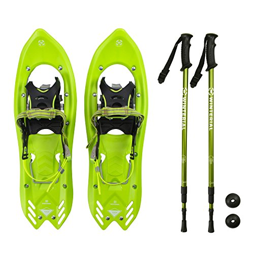 Winterial Yukon Snowshoes 2018/Advanced/Backcountry/Snowshoeing/Men/Green/All Terrain Snow shoes/POLES INCLUDED! by Winterial