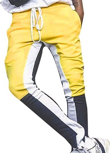 Pantalones de Largos de Hombre Deportivo Casual Coincidencia de ...
