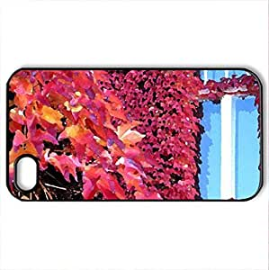 Autumn Wein - Case Cover for iPhone 4 and 4s (Houses Series, Watercolor style, Black)