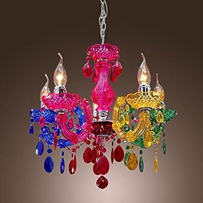 Mirrea® Mini Modern Chandelier, 5 Lights, Crystal-like Acrylic