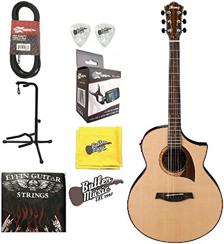 Ibanez AEW22CD-NT de madera exótica Electroacústica guitarra w ...