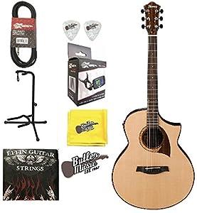 Ibanez Exotic Wood AEW22CD NT Acoustic Electric Guitar W Effin Strings More
