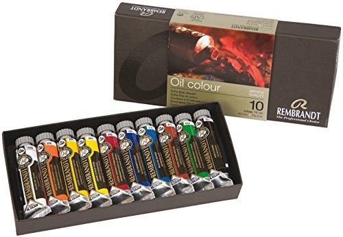 Rembrandt Oil Colour 10x15ml Tube Basic Paint Set