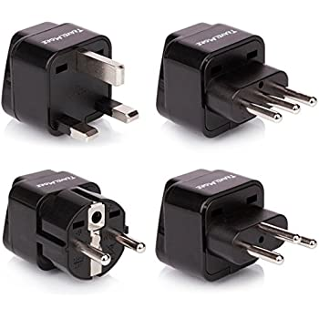 Amazon Com European Travel Adapter Plug Set Pack Of 4