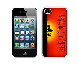 BINGO NEW ARRIVED Hakuna Matata iPhone 4 4S Case White Cover by lolosakes