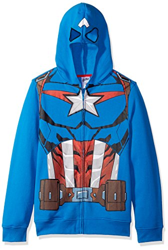 Marvel Men's Captain America Character Zip Front Hoodie