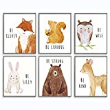 Woodland Nursery Decor, Baby Animal Pictures for