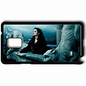 taoyix diy Personalized Samsung Note 4 Cell phone Case/Cover Skin Angelina jolie statue balcony brunette Actress Black
