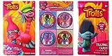 Trolls Dreamworks Poppy Mini Heart Stampers, Cards, Sticker Stocking Stuffer Bundle, 9 PC