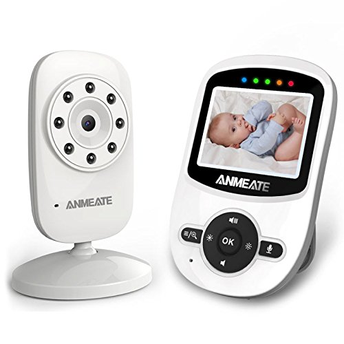 Video Baby Monitor with Camera, Temperature Sensor, Two-Way Audio