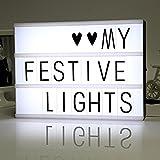 Cinematic Light Box Cinema LED Letter Lamp House Party Wedding Xmas Decor