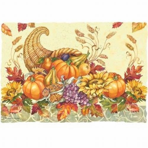 Fall Bounty Paper Placemats 50 Per Pack by Hoffmaster