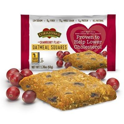 Corazonas Heart Healthy Cranberry Flax Oatmeal Square, 72 (Corazonas Heart Healthy)