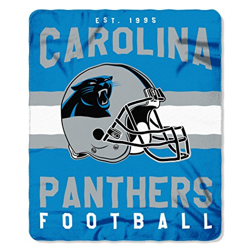 The Northwest Company NFL Carolina Panthers Singular Fleece Throw, 50-inch by 60-inch, Blue