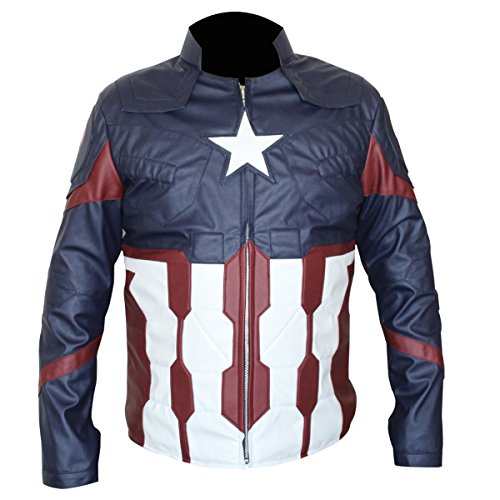 Mens New Icon (NEW Captain America Civil War Jacket (3XL))