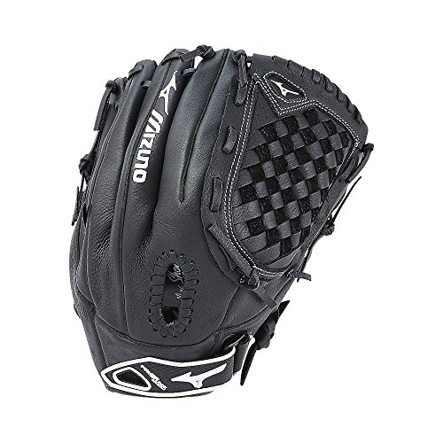 (Mizuno Youth Prospect Fastpitch Softball GPL1250F2 Utility 312590 Gloves, Size 12.5, Black )