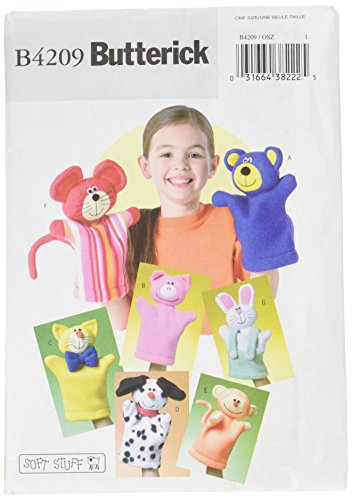 Butterick Patterns B4209 Kids' Hand Puppets, One Size Only (Patterns Puppet Animal)