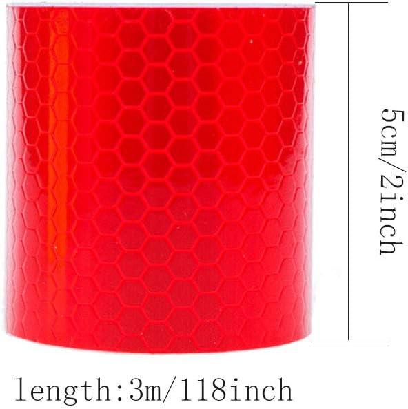 300cm 3 Rolle Anyasen reflektierendes Klebeband f/ür Sicherheit Reflektorfolie reflektorband selbstklebend Warnklebeband Sicherheit Markierung Band 5