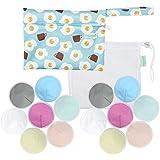 Organic Bamboo Nursing Pads (14 Pack)+Laundry Bag & Travel Bag,2 Sizes