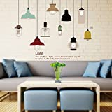 SDYDAY Pendant Lamp Wall Sticker Vinyl Wallpaper Art Decal Decals Decorative Removable DIY Room Decor