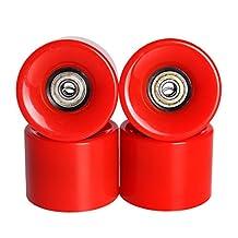 Andux Land mini skateboard wheels for mini Complete Skateboard penny fish board 85A Plastic green white red HBLZ-01