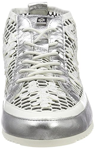 Högl 5-10 2318, Sneaker a Collo Alto Donna Argento (Silber)